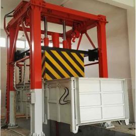 德隆重工三钢四柱式垃圾中转战 垂直式垃圾中转站