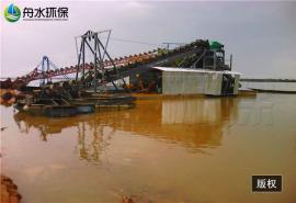 抽沙淘金船 链斗式淘金船 淘金船鼓动溜槽生产线
