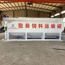构造合理的散装15吨饲料罐车 定制饲料运输罐图片
