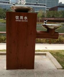 实木户外饮水台景区直饮水机公共直饮水设备广场户外饮水机