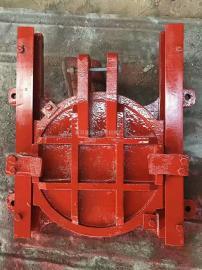 SYZ铸铁圆闸门安装 圆闸门预埋件 预埋钢板尺寸图
