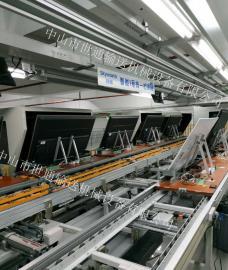 生产电视机工厂流水线