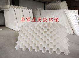 沉淀池蜂�C斜管填料斜板填料pp聚丙烯材�|