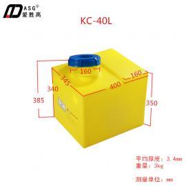 40L加�箱|食品�Υ嫱�|PE塑�z桶|防腐罐|化工��罐