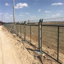 桥下防护栅栏/铁路金属网片防护栅栏/防护栅栏