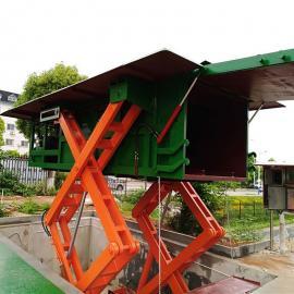 日处理量40吨的水平式垃圾中转站 乡镇 城镇垃圾压缩机