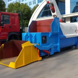 比较大的 日处理量80吨 70吨生活垃圾的移动式垃圾中转压缩站