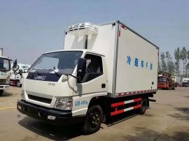 蓝牌不超重江铃顺达4.2米箱体五十铃115马力冷藏车出售