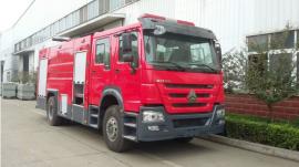 JDF5170GXFPM60型泡沫消防车 豪沃6吨泡沫消防车