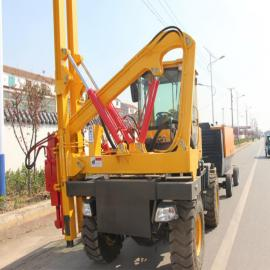 打拔空压一体机 公路立柱安装设备 博远直售现货