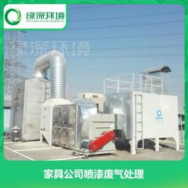 处理喷漆废气 喷漆废气处理 废气处理工艺 绿深环境