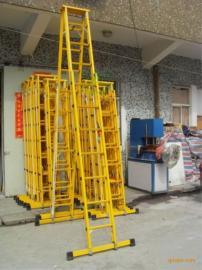 工程伸�s梯子 玻璃��^�升降合梯 �p面升降人字梯