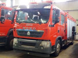 国五重汽豪沃8吨泡沫消防车 8吨重汽豪沃泡沫消防车