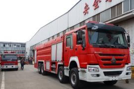 国五重汽豪沃25吨泡沫消防车 豪沃25吨消防车