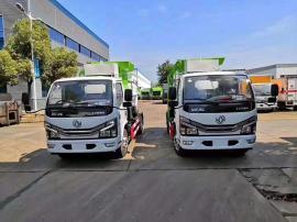 国六东风5方餐厨垃圾车带清洗装置