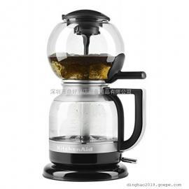 进口家用小型咖啡机KitchenAid 5KCM0812COB虹吸式咖啡机 (黑色)