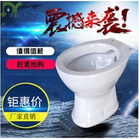 厕所革命 圆口坐便器 陶瓷坐便器加盖子 旱厕改造