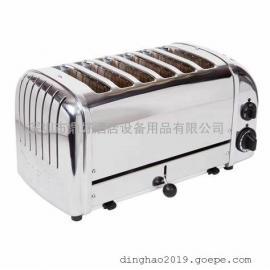 商用六格土司机DUALIT 6SLICE【D6BMH】GB 六格多士炉(双面加热)