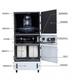 车间扬尘收集专用小型工业集尘器 0.75kw布袋式磨床集尘器