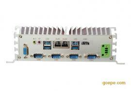 经典WQF-4010工控机,双网口多COM多USB嵌入式无风扇工控机