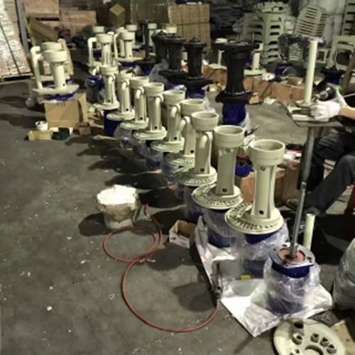 KD类型耐酸碱立式化工泵《槽外式》FRPP材质的可空转液下化工泵