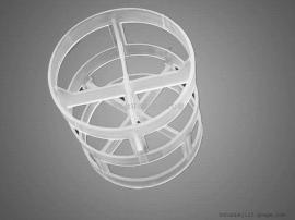高品质塑料鲍尔环填料pp聚丙烯 耐腐蚀喷淋塔鲍尔环