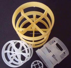 PP 50MM塑料聚丙烯鲍尔环填料 米字型鲍尔环