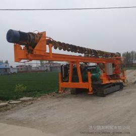 15米建筑工地螺旋钻机 长螺旋打桩机 小型螺旋地基打桩机