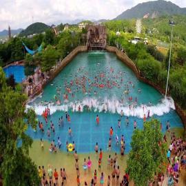 海啸池大型水上乐园设备 夏季游乐设备 真空泵造浪池