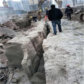 岩石劈裂机采石场开采用
