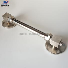 法兰连接小型玻璃管液位计 法兰连接小型玻璃管水位计 油位计