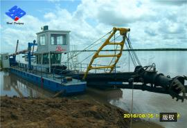 10寸液压挖泥船 绞吸式抽沙清淤船 航道疏浚船