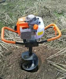 173汽油机挖坑机低价处理地钻种植机地钻挖坑机刨坑机工厂新品