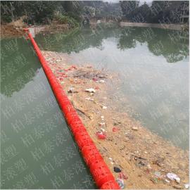 水域大范围有效集中大型垃圾树枝螺栓固定塑料浮排