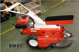 日本奥力士RM91自走式除草机马蹄牧草玉米收割机