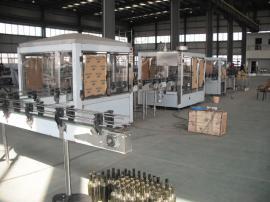 3000瓶/时葡萄酒罐装线―森科机械四联机果酒自动罐装线生产商