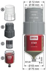 自动润滑器perma STAR VARIO系列原装单点润滑系统(机电)SF01