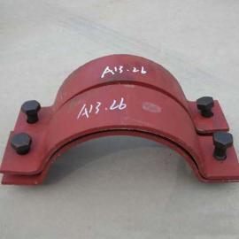 加工定做保冷管用A13双螺栓管夹 A14四螺栓管夹