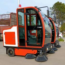 乐普洁扫地车清扫宽度2米电自动吸尘扫地洒水扫地机