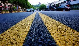 透水胶粘石路面胶粘剂用于自行车道