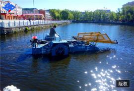 快速清除水面杂草工具 河道垃圾清理设备 保洁船