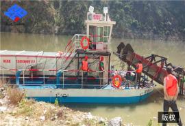 小型河道保洁船 水库垃圾打捞船 蓝藻浮萍收集工具
