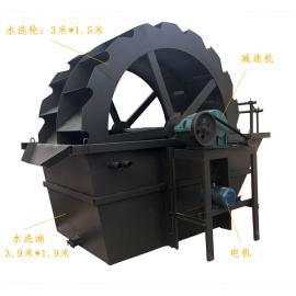 移动轮式洗砂机 性能稳定 工作效率高 二槽洗沙机