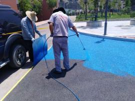 沥青改色路面胶粘剂用于景区道路