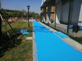 彩色陶瓷颗粒路面胶粘剂用于厂区路面