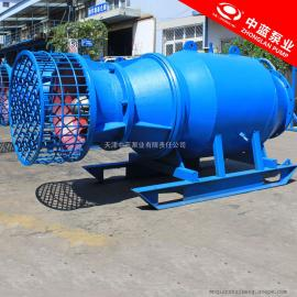 大功率雨水提升雪橇式轴流泵