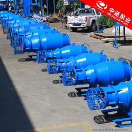 雪橇式安装防汛专用潜水轴流泵 中蓝QZB
