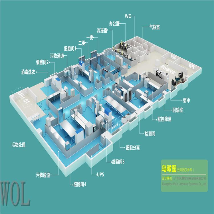 干细胞实验室平面图设计 建造
