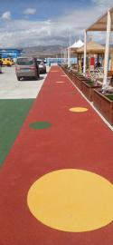 彩色陶瓷颗粒路面胶粘剂的工艺流程