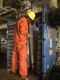 不锈钢板式换热器清洗团队